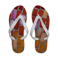 Mosaic Sandal Flip Flops from Zazzle.com