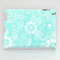 Henna Design - Aqua iPad Case by Haleyivers