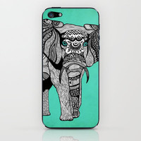 Tribal Elephant Black and White Version iPhone & iPod Skin | Print Shop