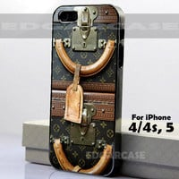 ICC 0751 Louis Vuitton Vintage luggage - Hard Cover - For iPhone 4 / 4S, iPhone 5 - Black / White Case