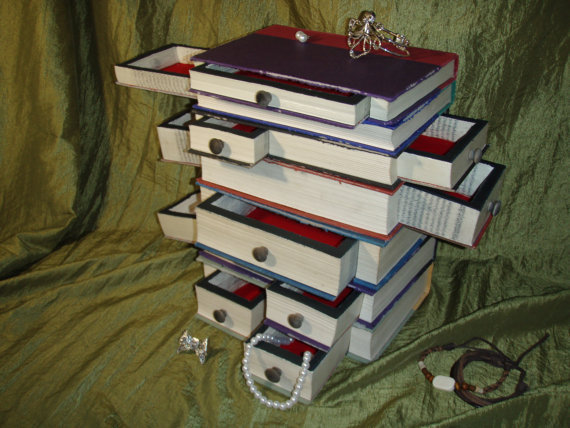Harry Potter series Book Jewelry Box from WreckedWritings . dee0081c12