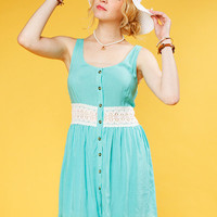 Papaya Clothing Online :: LOVELY WAIST LACE DRESS