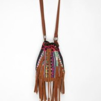 Ecote Beaded Suede Bucket Bag - Urban Outfitters