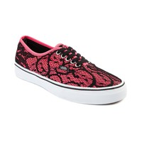 Vans Authentic Lace Skate Shoe, Neon Pink | Journeys Shoes
