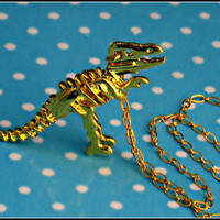 T-rex skeleton necklace by alapopjewelry
