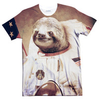 Sloth On The Moon Tee | Shelfies - Outrageous Sweaters