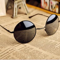Thin Bar Round Sunglasses YUC985