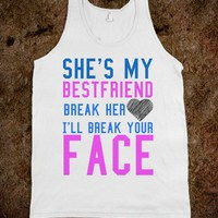 BEST FRIEND HEART TANK TOP TEE T SHIRT