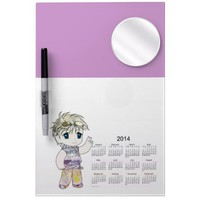 2014 Manga Calendar Dry Erase Board from Zazzle.com