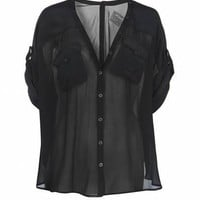 Hecia Cropped Shirt