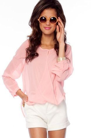 Let&#x27;s Do the Twist Blouse in Pink :: tobi