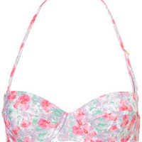 Pink Petal Print Bikini Top - Swimwear  - Apparel  - Topshop USA