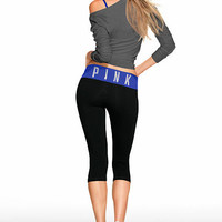 Classic Yoga Crop Legging - PINK - Victoria's Secret