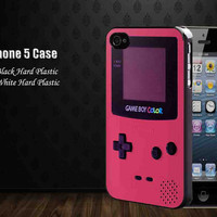 Gameboy Color Pink,Iphone 5 case,accesories case,cell phone