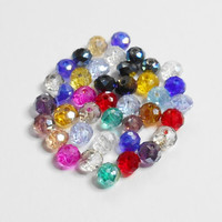 Multicolor Glass Crystal Beads 3mmx4mm