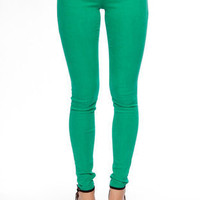 Colored Skinny Jeans in Green :: tobi