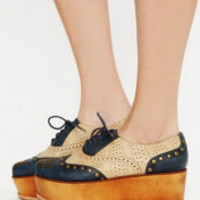 Jeffrey Campbell Ness Stacked Wingtip at Free People Clothing Boutique