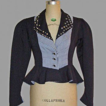 Victorian /Steampunk Style Jacket with Pleated Peplum, sz. 10-12 | EclecticOddities - Clothing on ArtFire