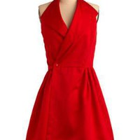 Vintage Halter Holiday Party Dress | Mod Retro Vintage Vintage Clothes | ModCloth.com