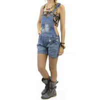 Renetta Fields Dark Denim Overalls