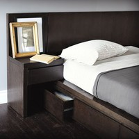 Storage Bed Nightstand - Chocolate