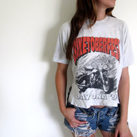 Biketoberfest Crop Top Cropped High Low Hi Lo Tee Motorcycle Biker Bike Cafe Racer Womens Shirt Tee