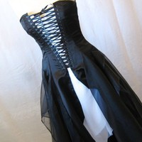 One of a Kind tattered eco friendly black gothic fairy corset dress...... | TheSecretBoutique - Clothing on ArtFire