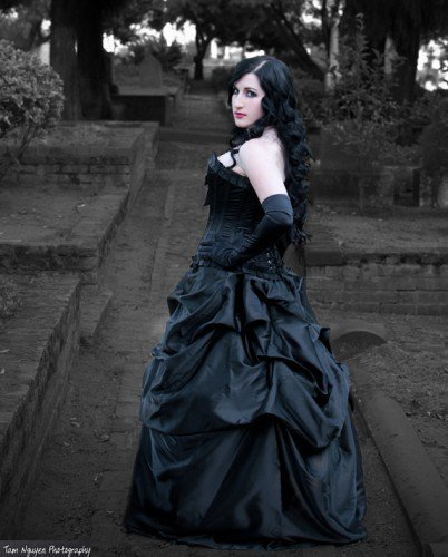 Elegant Belle Steampunk Gothic Bustle Skirt Black | azraelsaccomplicedesigns - Clothing on ArtFire