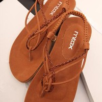 Braided Flat Sandals FCVH060507 from topsales