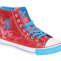 PILOT Ashlynn High Top Trainers in Red