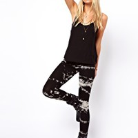 ASOS Leggings in Sketchy Tie Dye at asos.com