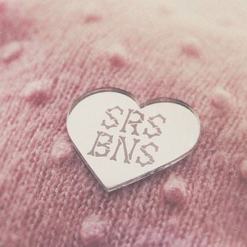 SRS BNS Mirrored Acrylic Brooch