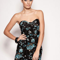 Helen Floral Print Puffball Dress at boohoo.com