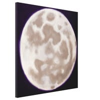 Painted Moon Gallery Wrap Canvas from Zazzle.com
