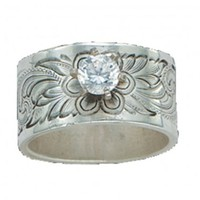 Montana Silversmiths Pure Montana Wild Rose Sterling Silver Solitaire Ring