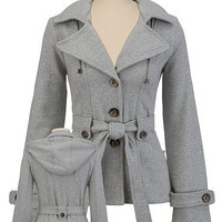 Belted Button Knit Coat with Hood - maurices.com