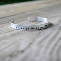 Custom Quote Cuff Bracelet  - Personalized -  Modern - Silver - Hand Stamped - Unisex - Under 20 - For Him - For Her - Lyrics