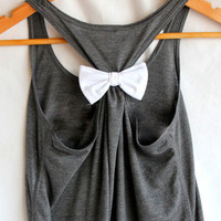 Plain Flowy Tank with White Bow