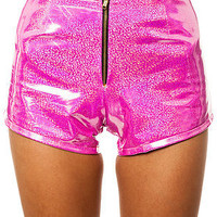 O-Mighty Shorts Exclusive Hologram in Pink