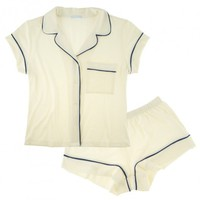 Buy Eberjey luxury lingerie - Eberjey Gisele PJ's Short PJ Set