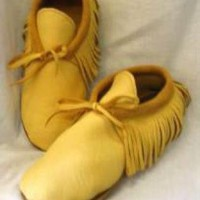 Multi Leather - Leather Moccasins,Native American Style, in | UsTrendy