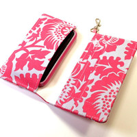 Smart Phone Wallet Or Cell Phone Case in Pink and by kailochic