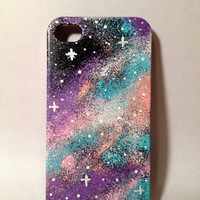 Hand Painted Colorful Galaxy iPhone 4/4s Case