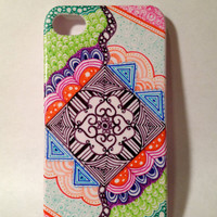Handmade Imagination Zentangle iPhone 4/4s Case