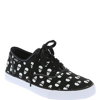 Cute To The Core Prime Black White Skull Canvas Shoes | Hot Topic