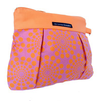 Wristlet / Clutch / Purse / Bag - Summer Party In Magenta And Orange | Luulla