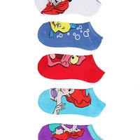Disney The Little Mermaid Ariel Friends No-Show Socks 5 Pair | Hot Topic