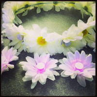 Light Up Flower Crown // EDC Crown // You Pick Daisy Colors :)
