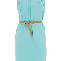 Mint sleeveless belted dress - Day Dresses - Dresses - Dorothy Perkins
