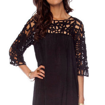 See It Through Dress in Black :: tobi